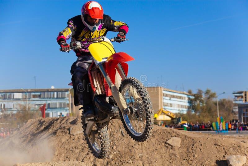 Competiciones en deporte de la motocicleta fotografía de archivo libre de regalías