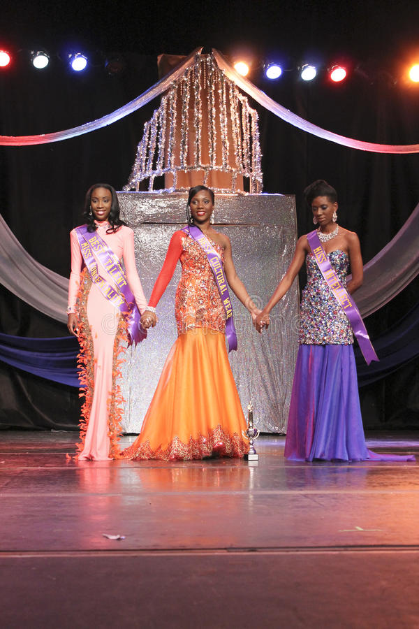Competidores del final tres de Srta. St. Croix  imagen de archivo libre de regalías
