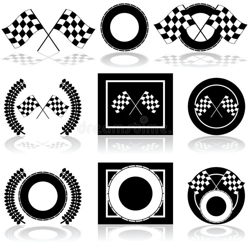 Competindo ícones ilustração royalty free