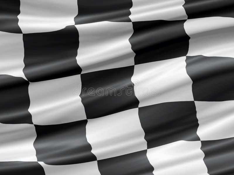 Competindo a bandeira ilustração stock