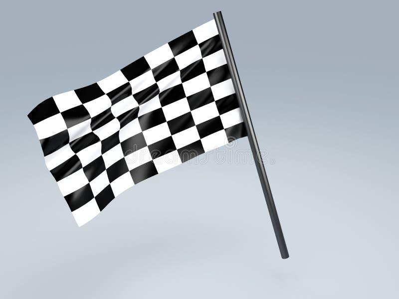 Competindo a bandeira ilustração royalty free