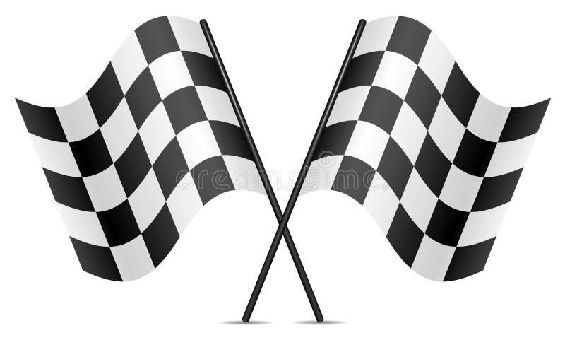 Competindo bandeiras ilustração royalty free