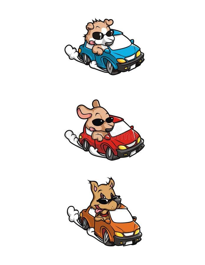 Competindo cães imagens de stock