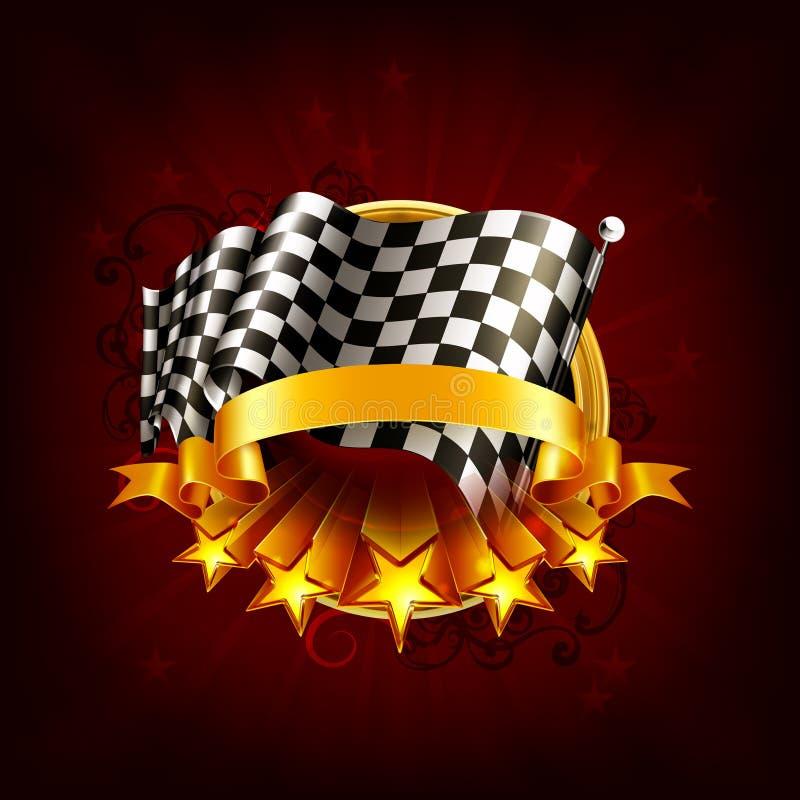 Competindo o emblema ilustração royalty free