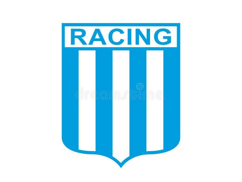 Competindo o logotipo do clube ilustração royalty free