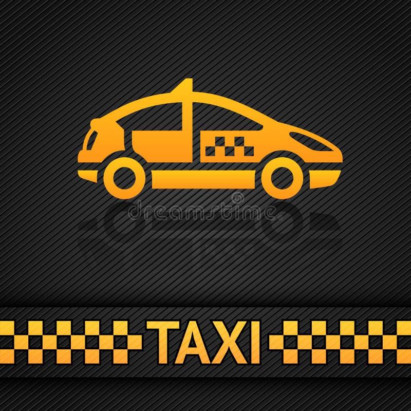 Competindo o molde do fundo, contexto do táxi de táxi ilustração do vetor