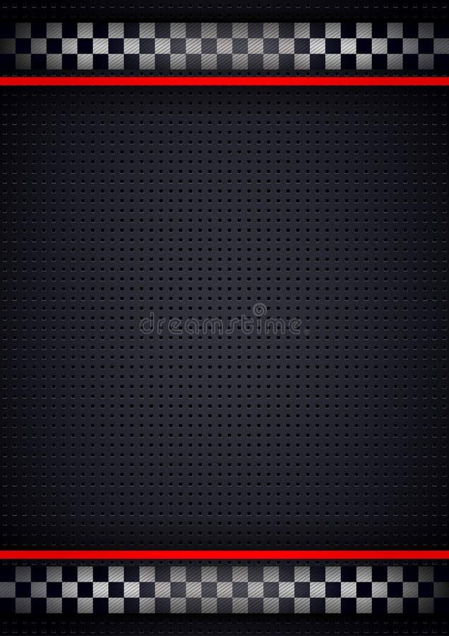 Competindo o vertical do fundo, perfurado metálico ilustração stock