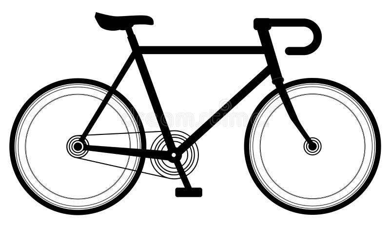 Competir con diseño de la bici ilustración del vector