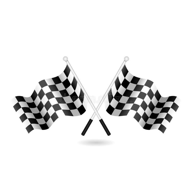 Competir con el ejemplo a cuadros del vector de la bandera de la bandera ilustración del vector