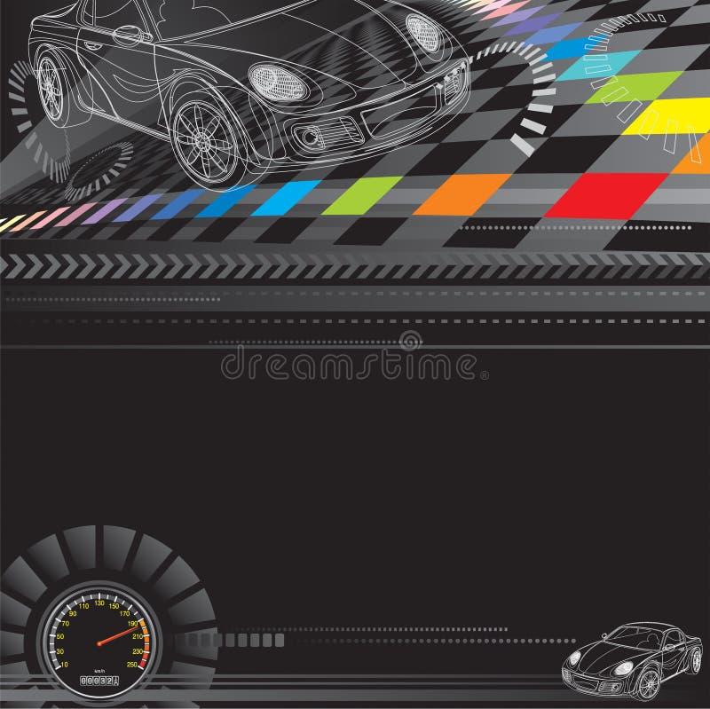 Competir con el fondo ilustración del vector