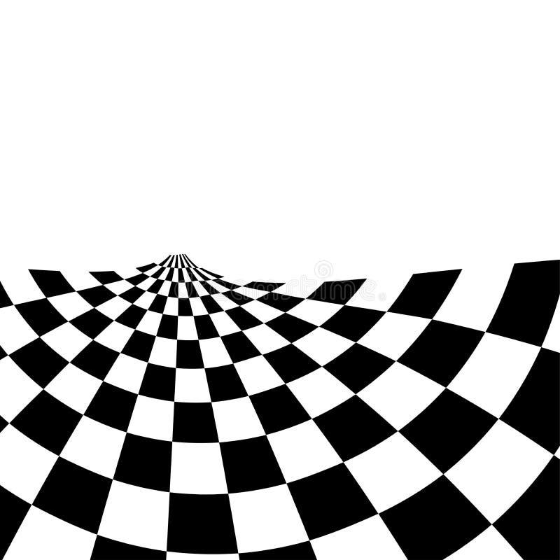 Competir con el fondo con el ejemplo a cuadros del extracto de la bandera ilustración del vector