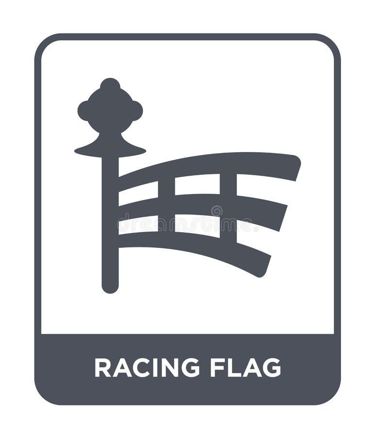 competir con el icono de la bandera en estilo de moda del diseño compitiendo con el icono de la bandera aislado en el fondo blanc ilustración del vector