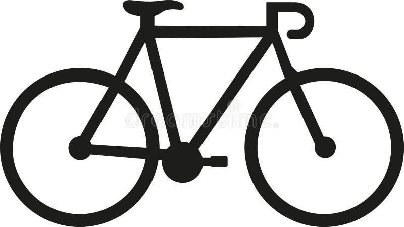 Competir con el icono de la bici stock de ilustración
