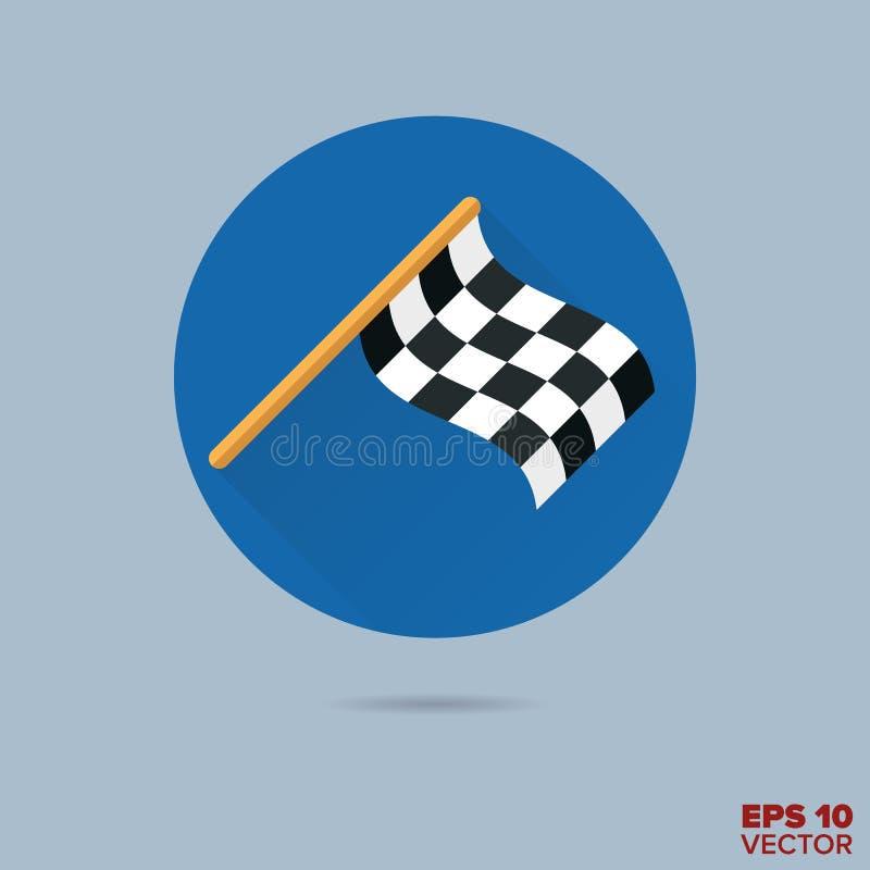 Competir con el icono plano del vector del diseño de la bandera del final libre illustration