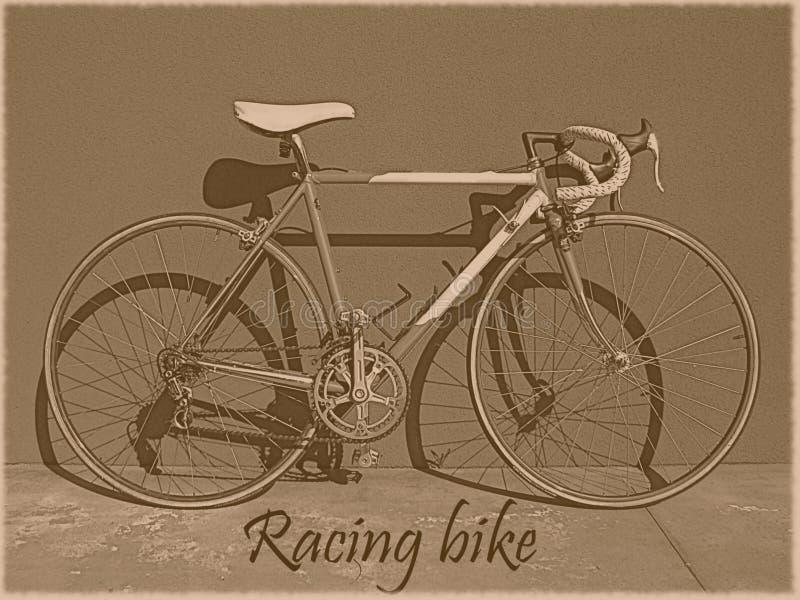 Competir con el vintage de la bici stock de ilustración