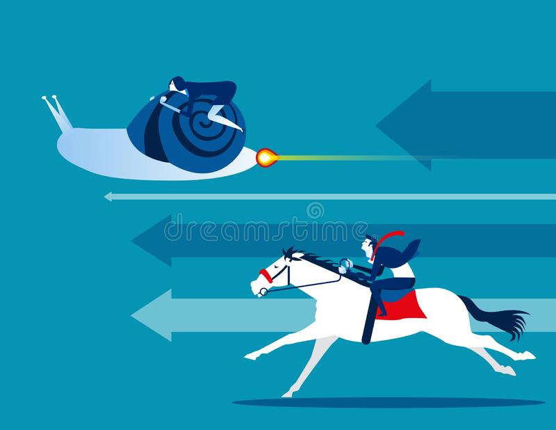 Competition. Business team and competitive. Concept business vector illustration. Flat cartoon charactorstyle design, animal, vector illustration