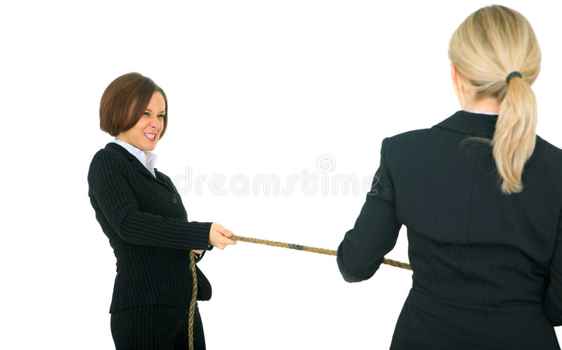 Competition Between Businesswoman Stock Image