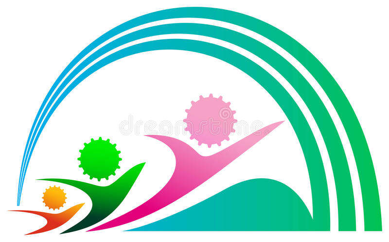 Competition emblem royalty free illustration