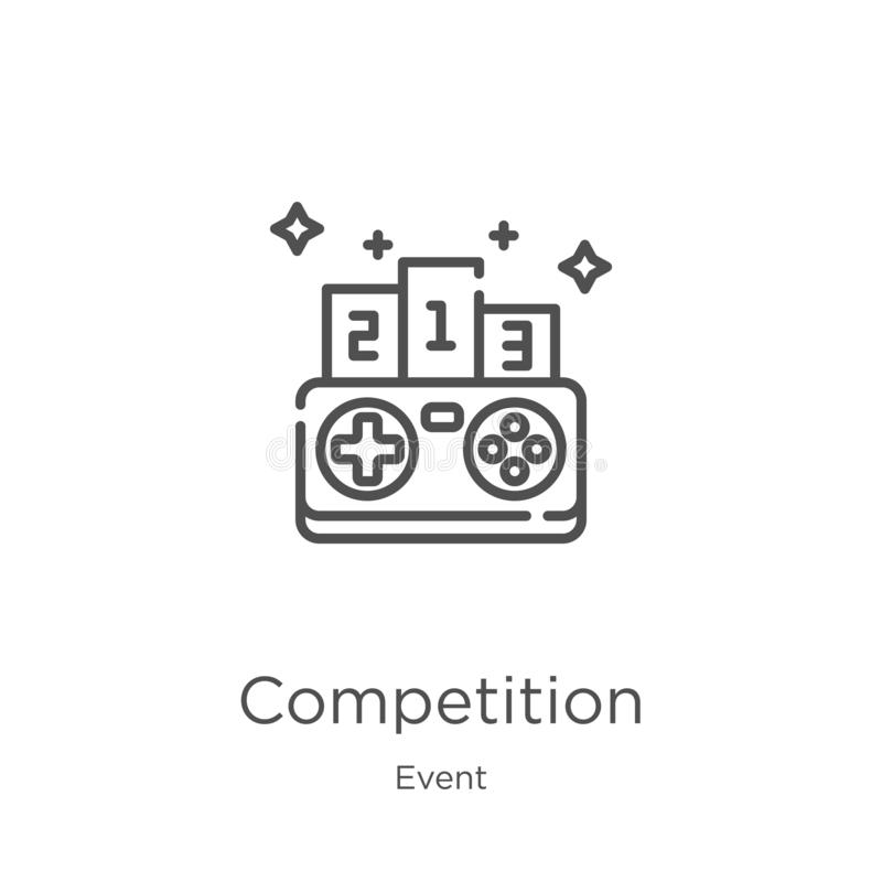 competition icon vector from event collection. Thin line competition outline icon vector illustration. Outline, thin line stock illustration