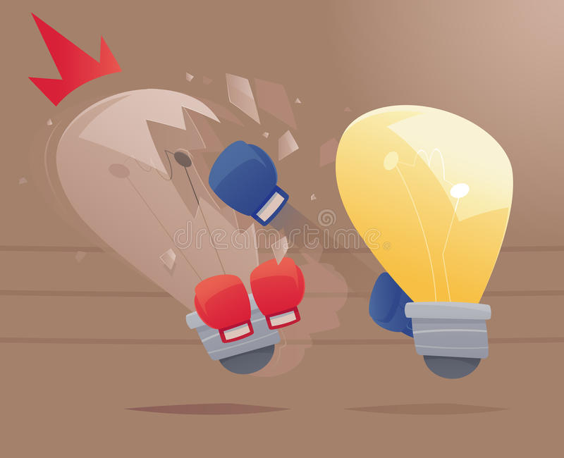 The Competition of Ideas - Concept of the competition of ideas royalty free illustration