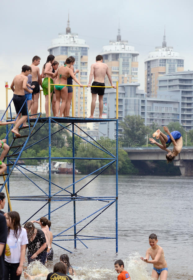 Competition On Kiev Beach Editorial Image