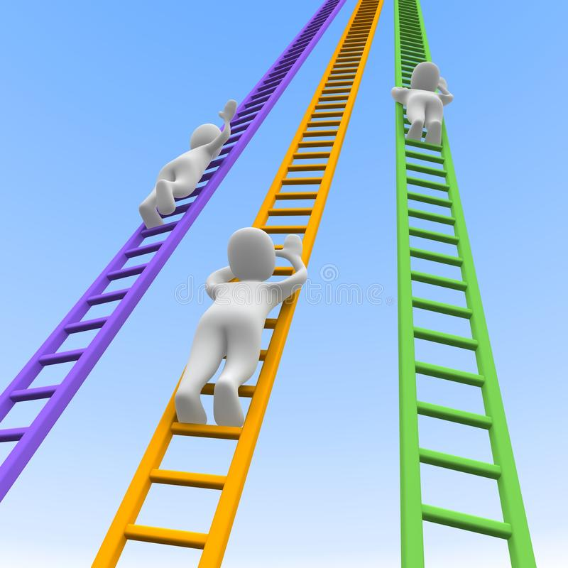 Download Competition and ladders stock illustration. Image of achievement - 16292729