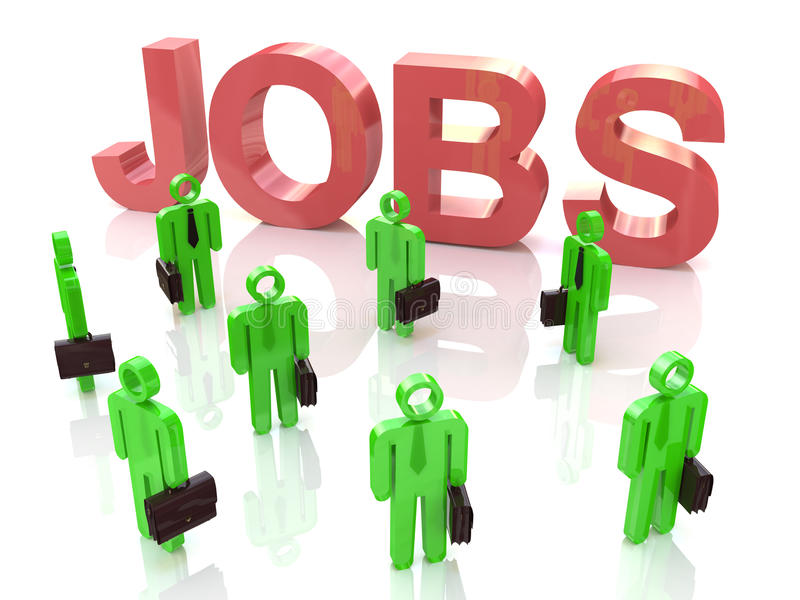 Competition for new jobs royalty free stock image