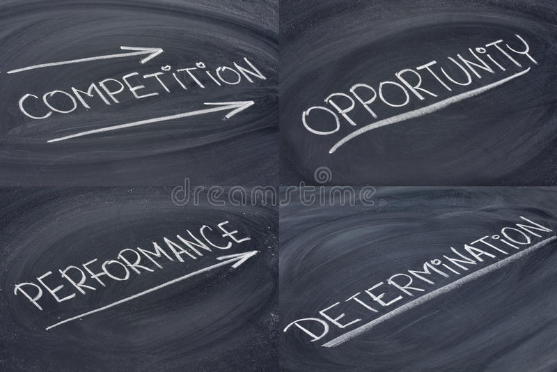 Competition, Opportunity, Determination Royalty Free Stock Images