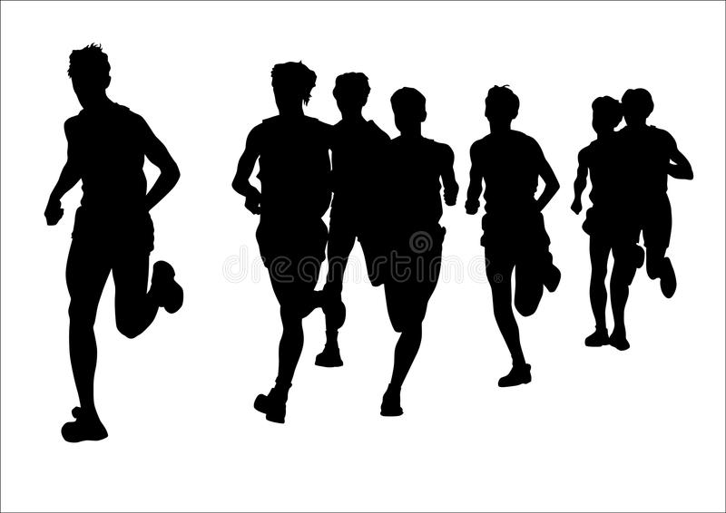 Download Competition on the run stock vector. Image of race, competition - 9991475