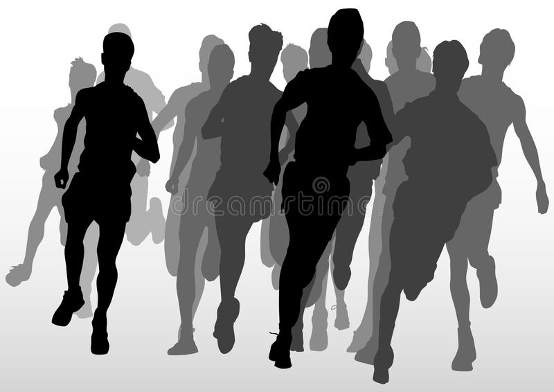 Competition Running Mans Stock Photo