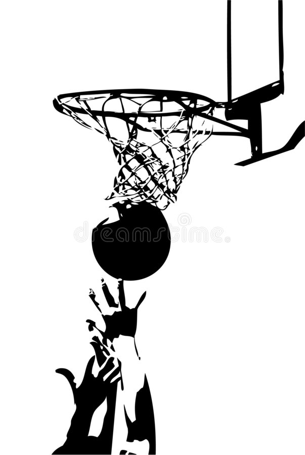 Competition in sports - basketball stock illustration