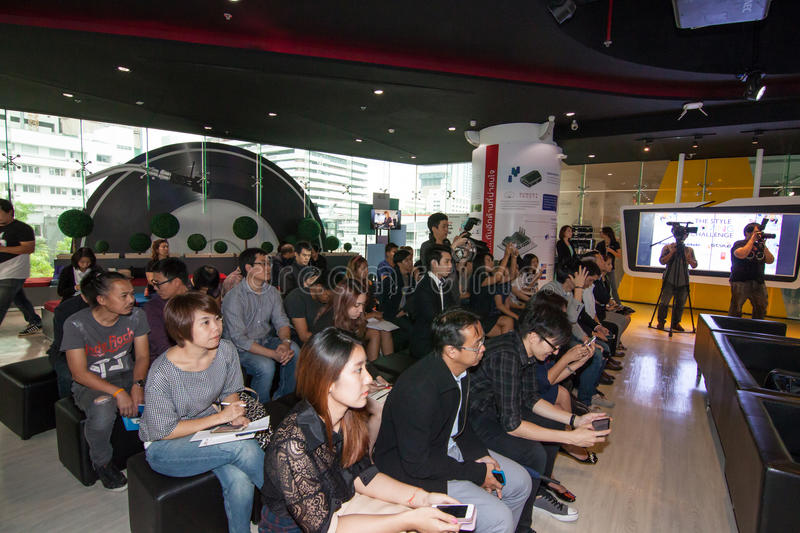 The competition of the style moving challenge. Animation battle. August 4, 2015. At Siam Square One Building, Siam Square, Bangkok, Thailand. There are stock photos