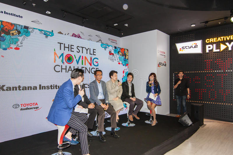 The competition of the style moving challenge. Animation battle. August 4, 2015. At Siam Square One Building, Siam Square, Bangkok, Thailand. There are stock image