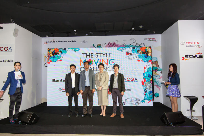 The competition of the style moving challenge. Animation battle. August 4, 2015. At Siam Square One Building, Siam Square, Bangkok, Thailand. There are royalty free stock photography