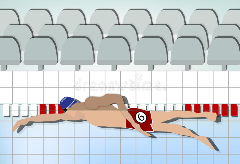 Competition Swimmer Royalty Free Stock Photography