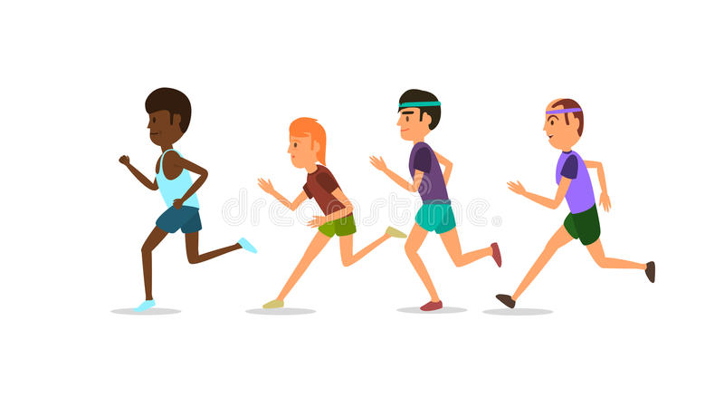 Competitions athletes. Vector illustration. White background. EPS 10 stock photo
