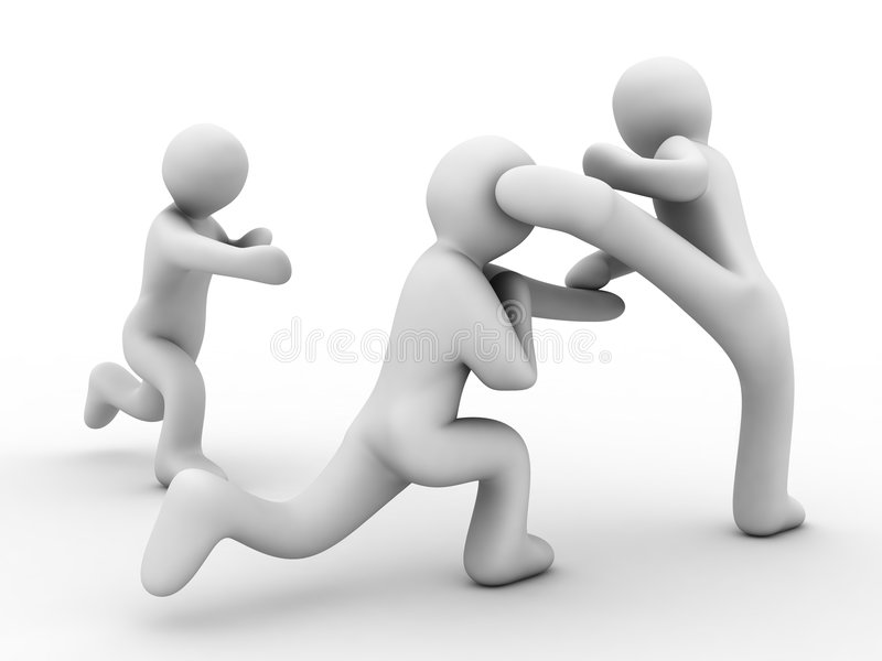 Download Competitions on karate stock illustration. Image of sport - 6606692