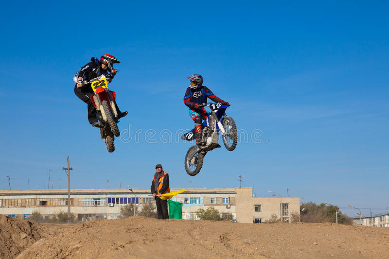 Competitions On Motorcycle Sport Editorial Image