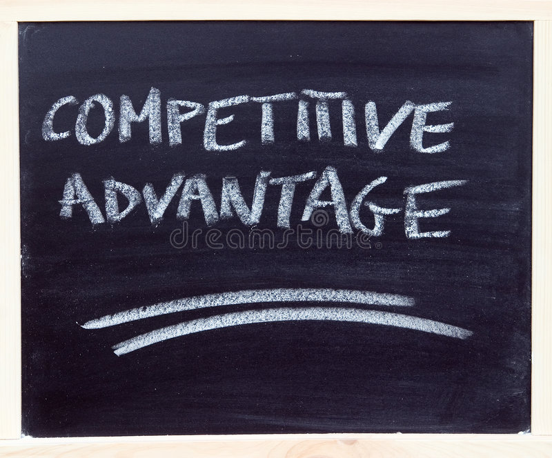 Competitive advantage royalty free stock photos