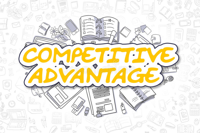 Competitive Advantage - Business Concept. vector illustration