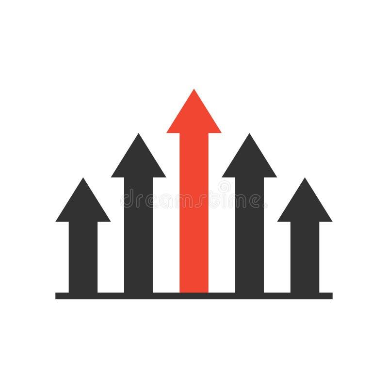 Competitive advantage icon stock illustration