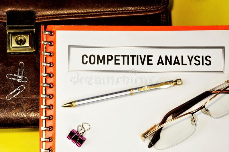Competitive analysis-studying the business goals of competing firms. It allows you to build a company strategy, maximize your. Strengths, existing opportunities royalty free stock image