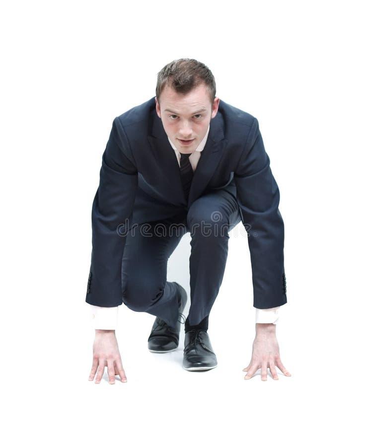 Competitive business man stock photos