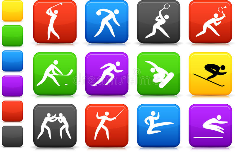 Download Competitive And Olympic Sports Icon Collection Stock Vector - Image: 12111357