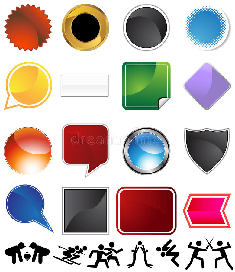 Download Competitive Sports Variety Set Stock Vector - Illustration: 11878910