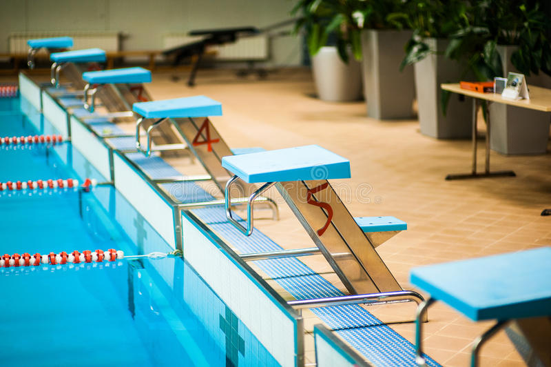 Download Competitive swimming pool stock image. Image of platform - 23819499