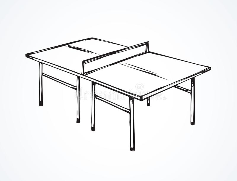 Tennis table. Vector drawing vector illustration