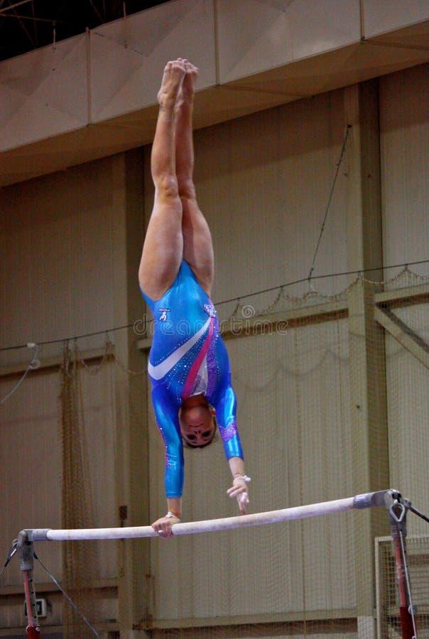 Competizione internazionale artistica di ginnastica immagine stock