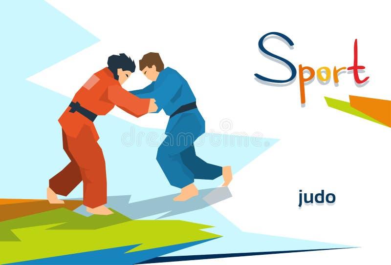 Competizione sportiva disabile degli oppositori di judo degli atleti illustrazione vettoriale