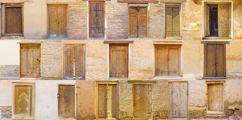 Compilação de portas do Uzbeque fotos de stock